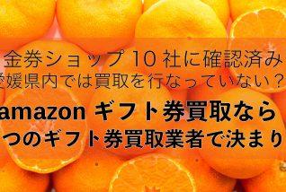 amazonギフト券買取愛媛