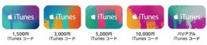 iTunesカード 種類 iTunesコード