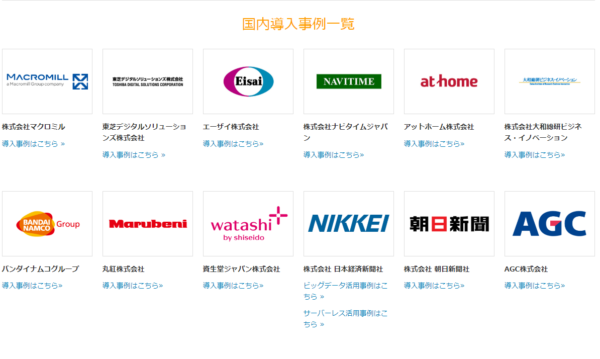 AWSを導入している店舗一覧2