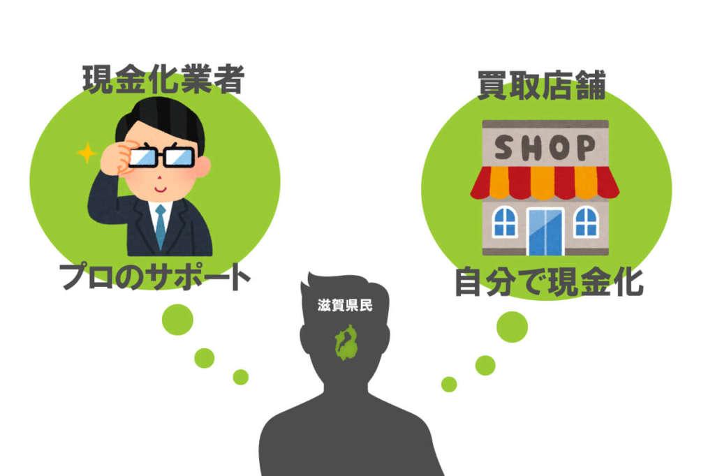 滋賀県クレジットカード現金化2つの方法