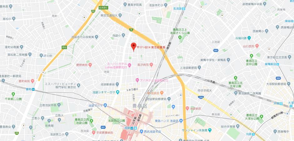 ユニーズの地図